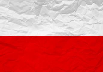 Poland flag crumpled paper