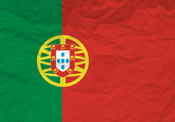 Portugal flag crumpled paper