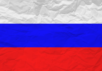 Russia flag crumpled paper