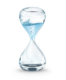 Fototapety hourglass with dripping water close-up, time concept