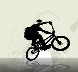 BMX cyclist. Vector