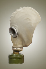 Gas mask on a gray background