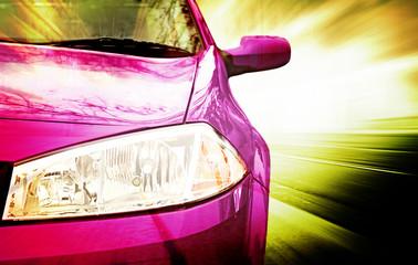 Pink Sport Car - Front side