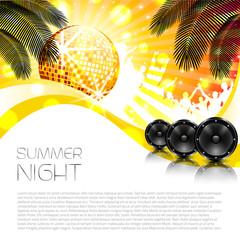 Music Summer Background - Vector