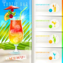 Booklet template - Tropical beach bar menu