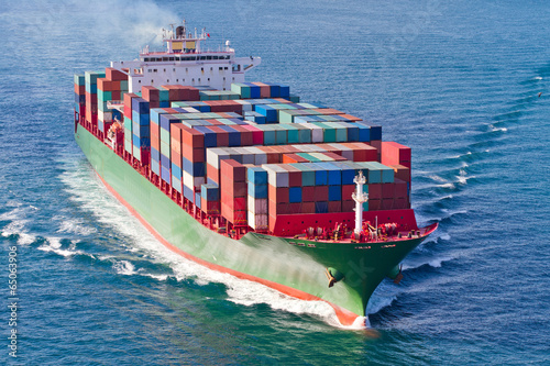Poster Container Ship