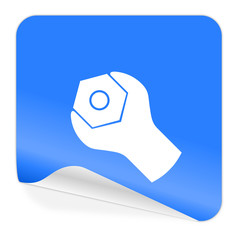 tools blue sticker icon