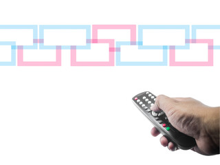 hand with a tv remote control