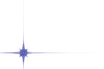 abstract star decor frame on white background