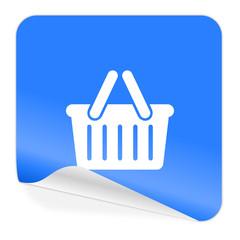 cart blue sticker icon