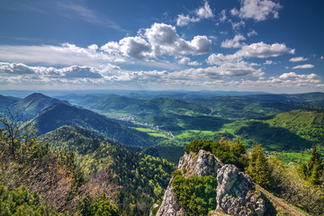 View from the mountain ridge-Little Fatra hills-Slovakia