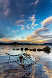 Lago maggiore al tramonto