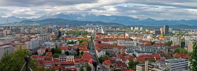 Cityscape of Ljubljana
