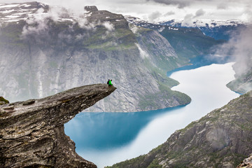 Norway Mountain Trolltunga Odda Fjord Norge Hiking Trail