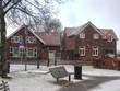 Snowfall in winter Dutch town Heerlen. Netherlands
