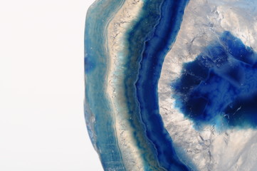 Macro of blue agate stone
