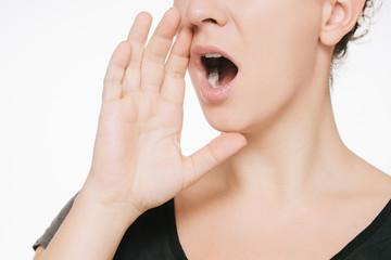 Frau schreien