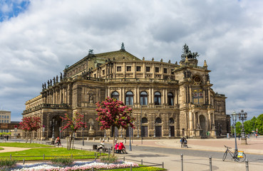 Semperoper, an opera house in Dresden, Saxony