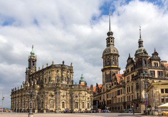 View of Dresden castle and Cathedral - Germany, Saxony