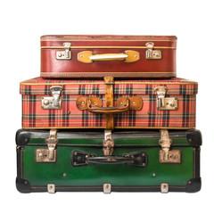 trio vintage di valigie