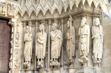 Notre-Dame de Reims Cathedral. Decoration elements. Reims, Franc