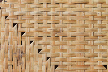 textured background of interlace bamboo stripe