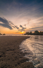 Sunset Kelanang beach