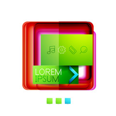 Square web design boxes - vector illustration