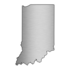 High detailed vector map - Indiana.