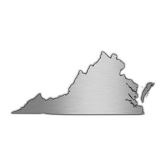 High detailed vector map - Virginia.