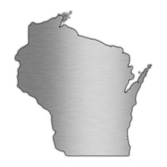 High detailed vector map - Wisconsin.