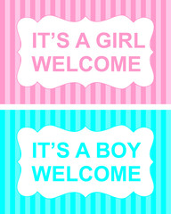 it is a girl or boy