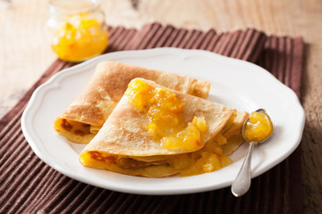 pancakes with orange marmalade