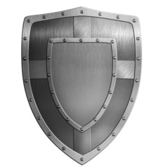 metal shield illustration