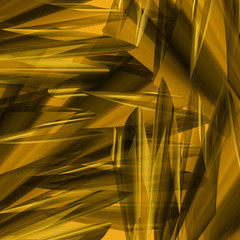 Angular gold abstract