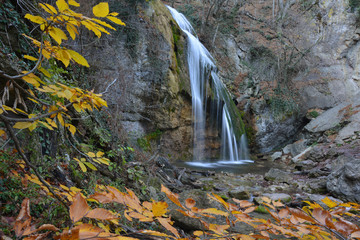 Djur-djur waterfall in autumn