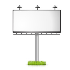 Billboard vector background with grass