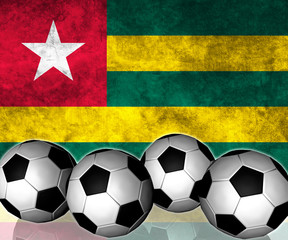 Footballs on top of flag - Togo