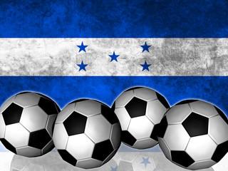 Footballs on top of flag - Honduras