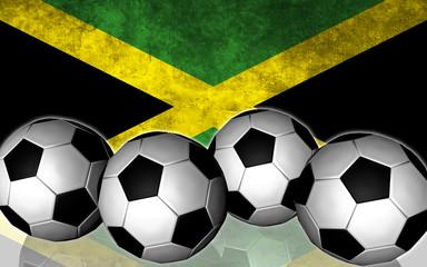 Footballs on top of flag - Jamaica
