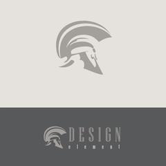 vector corporate centurion helmet protection design element for