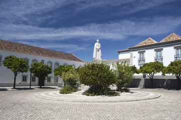 Dom Fransico Gomes de Avelar Statue, Faro,Algarve, Portugal