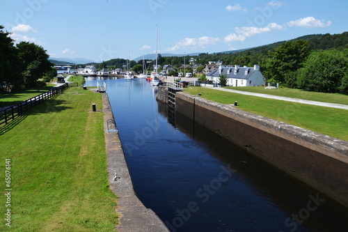 Foto op Canvas Kanaal Neptune's Staircase on the Caledonian Canal,