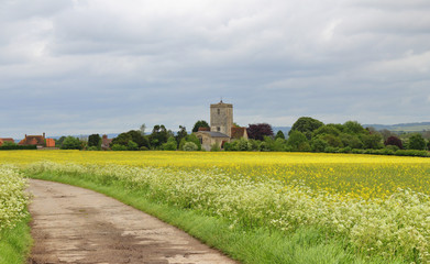 An English Rural Landscape with Village Church