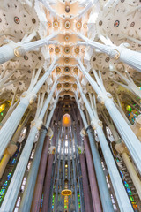 Sagrada Familia, interior view
