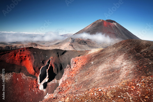 Deurstickers Vulkaan Mt.Ngauruhoe (aka. Mt.Doom), North Island, New Zeland