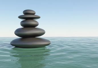 Japanese Zen stones