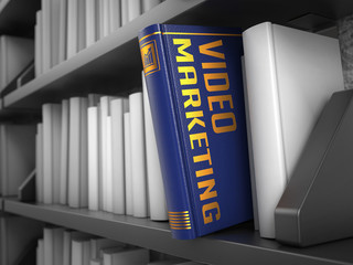 Video Marketing - Title of Book. Internet Concept.