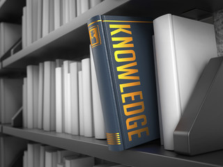 Knowledge - Title of Book. Innovation Concept.