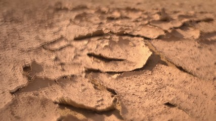 Dry lifeless soil - earth without water